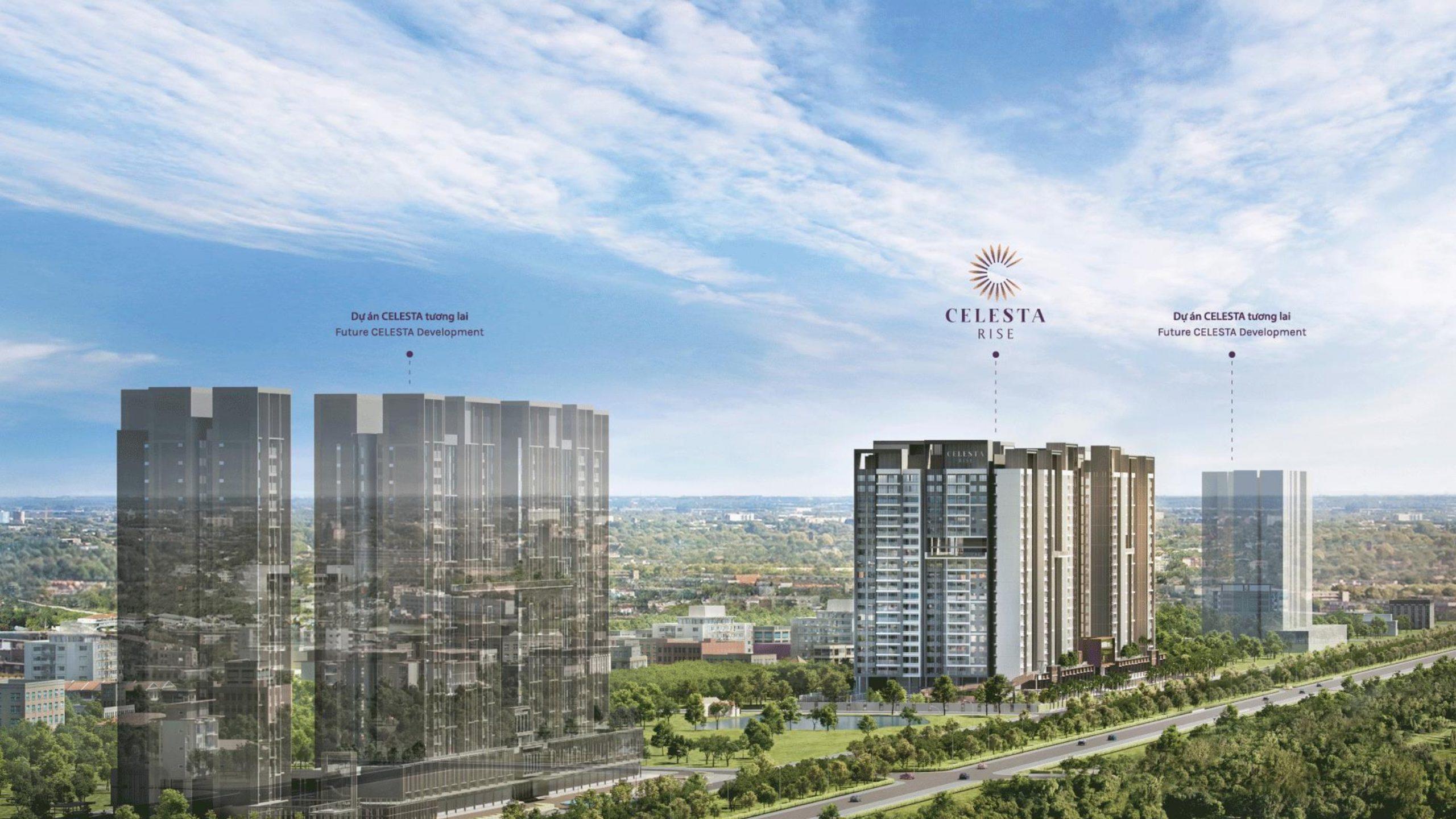 Phối cảnh tổng quan dự án Celesta Rise